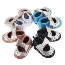 Wholesale 2016 new mary jane style moccasins soft sole Genuine leather Baby Infant walker Shoes Girls first walker SHOES tassel shoes color C407