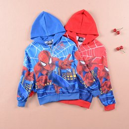 4pcs lot boy autumn spring clothing Spiderman cartoon hoodies fashion cute kids sweatershirt for boys 234567 years