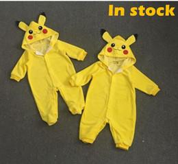Animales libres en Línea-Baby Cartoon # 20 Pikachu mamelucos Cute Poke animales de una sola pieza de ropa de invierno Santa Claus ropa mono bebé bebés mamelucos envío gratis