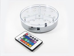 Remote Controller Multicolor Battery Operated WeddingTable Center Piece 6 INCH Vase Led Light Base for Party Decoration