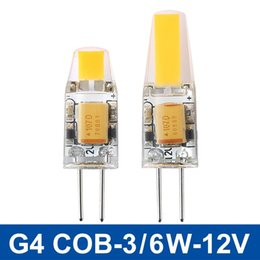 Mini G4 LED Lamp COB LED Bulb 6W DC AC 12V LED G4 COB Light Dimmable 360 Beam Angle Chandelier Lights Replace Halogen G4 Lamps