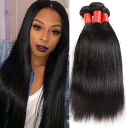 7A Brazilian Virgin Hair Straight 4 Bundle Queen Hair Products Unprocessed Brazilian Straight Human Hair Weave Bundles