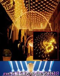 Promotion rgb led net lampe Meshwork NOUVEAU 800 LED Lights net 3m * 6m Curtain Xmas Chaîne Lampe Parti Décoration Lumière Fée 110V-220V AU UK UE prise US MYY