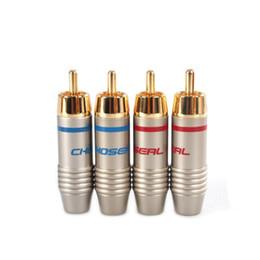 Q-911 Lot de connecteurs à oreilles plaqué or fiche rca audio / câble de soudage de câble vidéo Livraison gratuite à partir de terminal vidéo fournisseurs