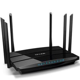 Acheter en ligne Répéteur sans fil à la maison-Vente au détail TP-LINK TL-WDR7500 1750Mbps 11AC Deux bandes WIFI sans fil Routeur Répéteur Extension Routeur Gigabit 2.4GHz + 5GHz Pour maison / Entreprise