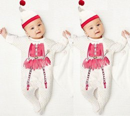 2016 Christmas girls bodysuits Newborn baby boys girls fashion rompers +cute hat Sleepsuit kids boy girl Jumpsuit Romper cotton Winter suit