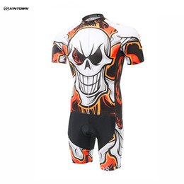 2016 Free shipping XINTOWN Cycling Jersey Bike Bicycle Flame Skull short sleeve shorts Cycling Short Suit Cycling pants Shorts or bib shorts