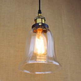 New Antique Vintage Style Glass Shade Ceiling Light Bell Pendant Light Glass Pendant Lamps Glass Pendant Lights Over Kitchen Island