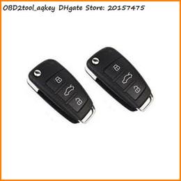 Control remoto 315 en venta-AQkey OBD2tool 2pc 315 MHz 433MHZ cara a distancia coche de control Duplicar la llave del coche A010 a cara copia de la llave a distancia