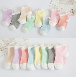 Wholesale Children socks manufacturers Korea cute candy colored cotton children socks slip baby socks mixed colors