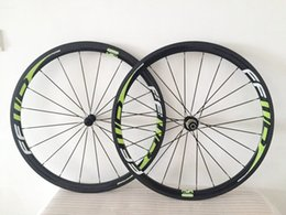 FFWD 38MM Green carbon fiber road bike cycling wheels carbon clincher wheelset carbon road novatec hub bicycle wheelset
