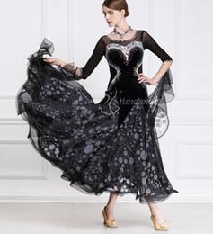 black customize ballroom Waltz tango Quick step competition dress