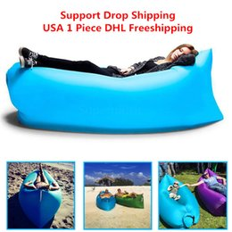 Wholesale 1pcs Siest Fast Infaltable Sleep Bag Hangout same as Lounge Chair Air Sofa sleep bag DHL free