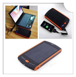 Wholesale DHL mAh Large Capacity Solar Power Bank External Battery Backup Charger for Computer Notebook Laptop V V V V with Retail Package