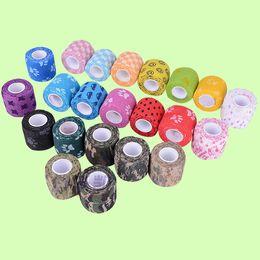 Wholesale 2016 Hot Sale Pet printing colorful First Aid Medical Body Care Treatment Self Adhesive Elastic Bandage Gauze Tape Sizes