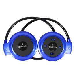 Wholesale-2016 New Mini 503 Neckband Sport Wireless Bluetooth Handsfree Stereo Headset Headphone Earphone for Mp3 Player