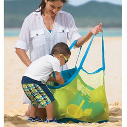 Wholesale 100pcs Applied Enduring Children Sand Away Beach Mesh Bag Children Beach Toys Clothes Towel Bag Baby Toy Collection Nappy ZA0734