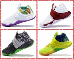 Wholesale 1 New Kyrie EP Irving Mens Basketball Shoes Bright Crimson Tie Dye BHM All Star Cavs PE Basketball Sneakers