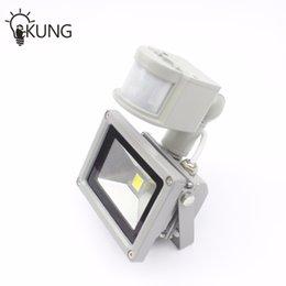 Wholesale Outdoor Lighting Floodlights V W Input PIR LED flood light for Solar system garage for security with Motion Sensor Time