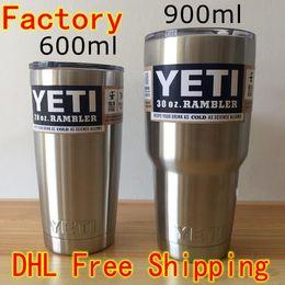 Wholesale NEW YETI Rambler Tumbler Bilayer Stainless Steel Insulation Cup Cooler oz oz Cups Cars Beer Mug Large Capacity Mug Tumblerful