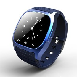 Wholesale-Bluetooth Sport Smart Watch Luxury Wristwatch M26 Support Dial SMS Remind Pedometer for Samsung Galaxy S4 Note3 Andriod Phone