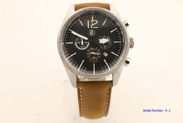 Wholesale NEW Bell Automatic Movement Men s watch best Watches Ross brown rubber band vv04