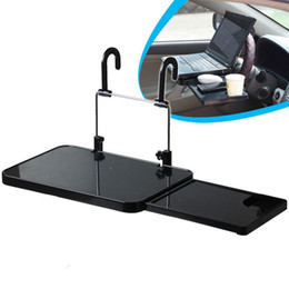 Wholesale Universal Foldable Auto Truck Car Laptop Stand AirDesk Car Seat Steering Wheel Netbook Tray Table Food drink Holder Mounts W054