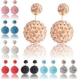 8 colors Super flash czech stones women's shambhala earring stud GTTE2,fashion fimo candy colors earrings jewelry 24 pairs a lot