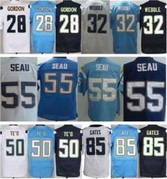 Wholesale 2016 New Men s Elite Chargers Phipli Rivers Keenan Allen Joey Bosa Jason Verrett Stitched Jerseys Free Drop Shipping