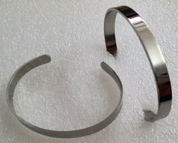 7MM Width High Mirro Polished Open Close End Cuff Blank Bracelet Bangle FOR Children Boy Girl Wrist Size