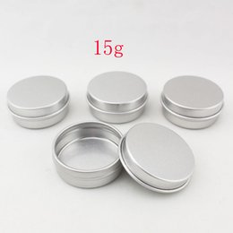 15g aluminum empty cosmetic container with lids 15ml small round lip balm tin solid perfume cosmetic packaging jar sample bottle