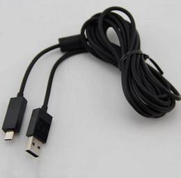 Promotion charge de contrôleur sans fil xbox XBOX ONE USB Câbles Chargeurs sans fil gamed Controller ligne de date de recharge Chargeur avec 2.7m Component LED Cable Adaptateur xboxone nouvelle