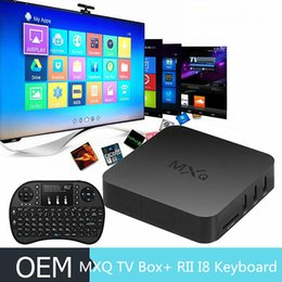 Wholesale Rii i8 G Fly Air Mouse Keyboard remote control Kodi Amlogic S805 MXQ Smart Android TV Box watching Online Video Play Games