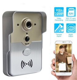 Wholesale New Wi Fi Smart Doorbell camera PIR sensor tamper alarm P home security CCTV wireless P2P camera for Android IOS smart phone tablet PC