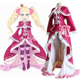 Wholesale Re Zero Kara Hajimeru Isekai Seikatsu Beatrice Re Life in a Different World from Zero Cosplay Halloween Party Dress with Cloak