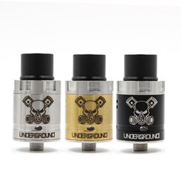 Wholesale Newest Underground RDA Atomizers New Base None Post RDA More Space Peek Insulator Black Gold SS color fit Vapor mods DHL free