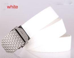 Wholesale 100pcs belt solid metal bucket luxury designer khaki amy green stripes leather Package edge belt for men casual waist belts