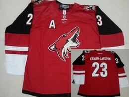 Wholesale 2016 Mix Order Men s Arizona Coyotes Jerseys Oliver Ekman Larsson ICE Hockey Jersey Embroidery Cheap