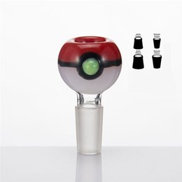 Wholesale Hot Glass Poke Mon Bowl mm mm Male Female Joint Also Sell Part Grinder Poke Ball Cartoon Product Pipe Bong