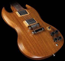 Cuerpo sg en venta-Guitarras Eléctricas SG Color Original Cuerpo Cuerpo Sólido Nogal Vintage sg Guitar Instrumentos Musicales Hot Sell
