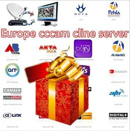 Wholesale Best month Europe CCcam Clines half an year valid for Spain UK Germany Poland Satellite Decoder RCA Cable 6
