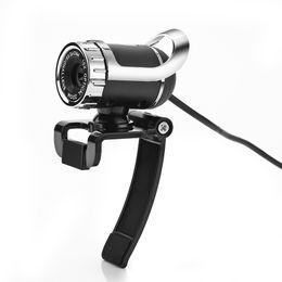 Wholesale Newest Webcam USB Megapixel HD Camera Web Cam Degree WITH MIC Clip on For Skype Computer PC LAPTOP SXT