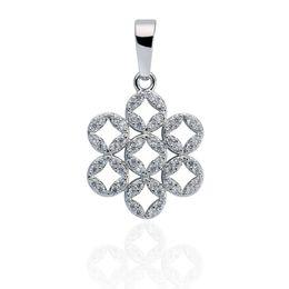 New Arrival charm pendant Women's Elegant Platinum Plated Imitated Diamond Snowflake Pendant for Necklace&Bracelet DIY Pendant