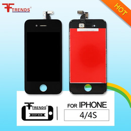 for display iphone 4 and iphone 4s lcd screen digitizer full assembly complete Screens Replacement Repair Parts Free Ship