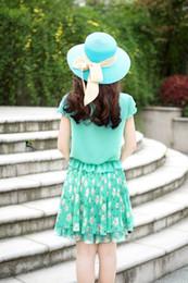 Compra On-line Korean women s dress-Novas mulheres vestem magro verão chiffon partido das senhoras saia New coreano vestido tamanho Plus S-4XL