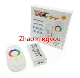 YON 1PCS RGB led controller DC12-24V 18A RGB led controller 2.4G touch screen RF remote control for led strip bulb downlight