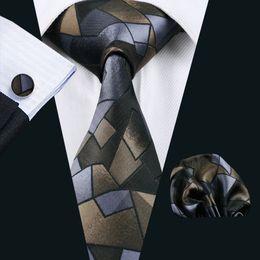 New Fashion Ties for Men Tie Geometric Printing Classic Mens Necktie Business Casual Vintage Neck Ties N-0980