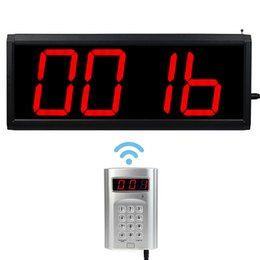 Wholesale Wireless Call Number System Restaurant Paging Queuing System Keyboard Transmitter Host F4434A