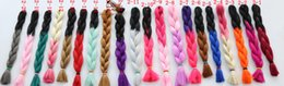 kanekalon synthetic braiding hair extensions,24inch 100g ombre color hair jumbo braid hair extensions ,more colors.