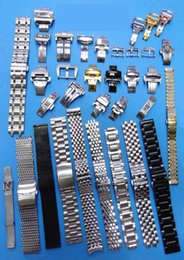 Stainless steel buckle double pull to pull the watch strap butterfly buckle 10-22MM spot large concessions